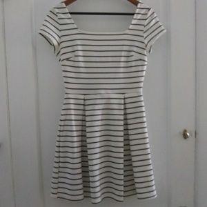 Soprano Striped Skater Dress